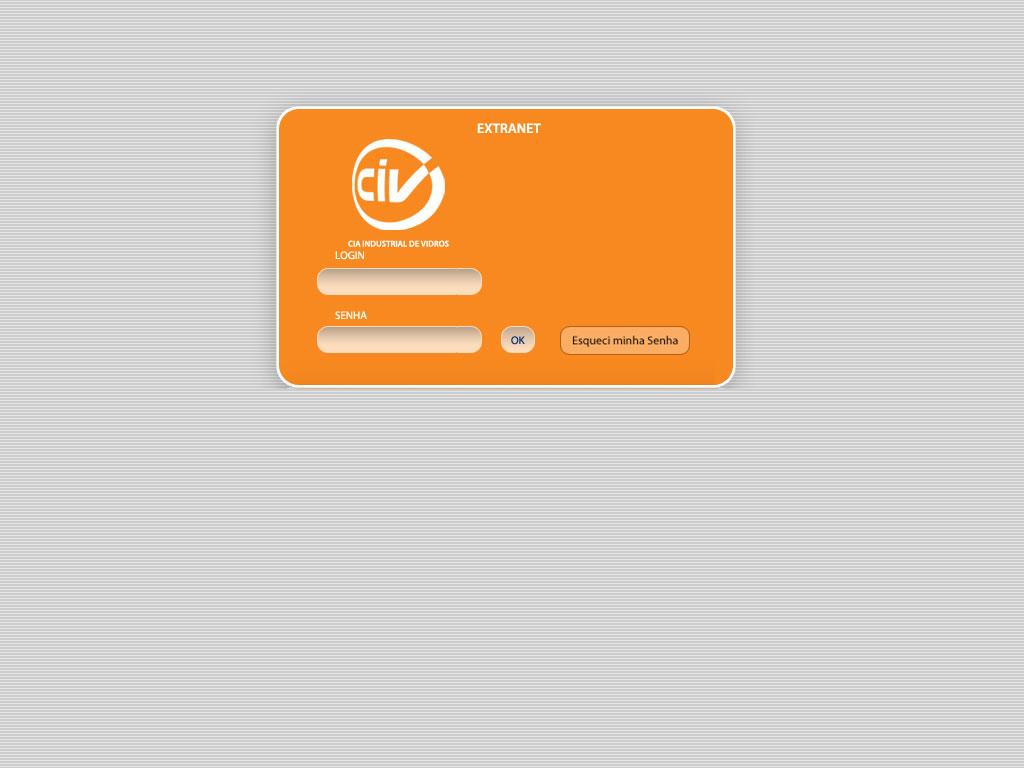 Cliente: CIV<br/><br/>Tela de login.