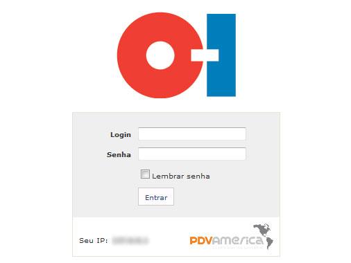 Cliente: O-I<br/><br/>Tela de Login.