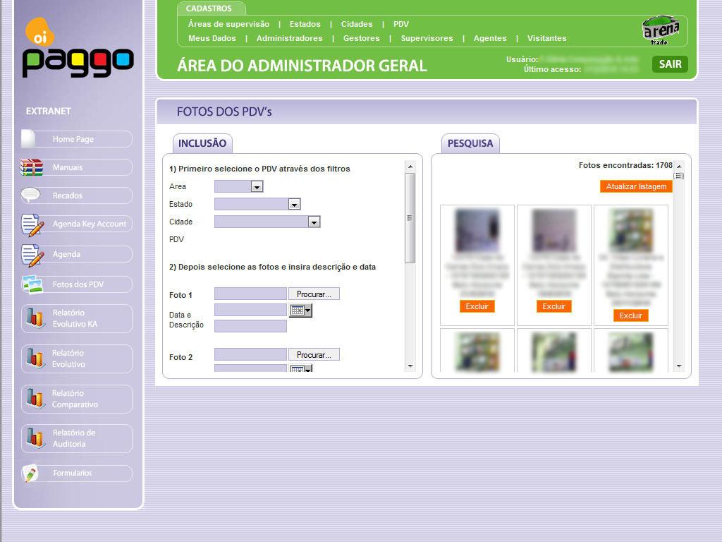 Cliente: Oi Paggo<br/><br/>Visualização de fotos.